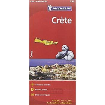 Carte NATIONAL - Crète - 1/140000 -1cm = 1.4km
