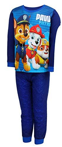 Nickelodeon Paw Patrol Schlafanzug Pyjamas Lang (104 (4 Jahre), Dunkelblau)