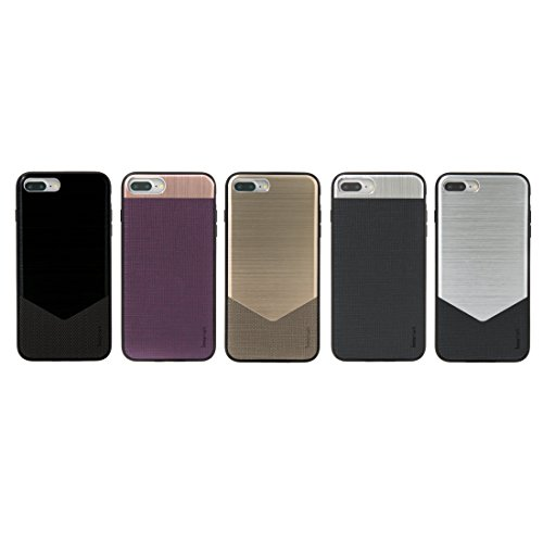 ACE Innomark Smartcase, Aluminium-/PVC-Schutzhülle / Hardcase / Schale für iPhone 7, Schwarz/Grau Schwarz/Grau