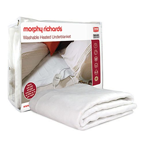 Morphy Richards 600111 Washable Heated Underblanket Electric Blanket -Single, White
