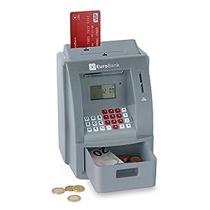 Balvi - Euro Bank hucha cajero automático electrónico. Contador automático de monedas. Funciona con 3 pilas AAA. de Balvi Gifts S.L.