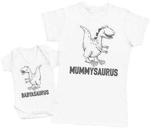 Zarlivia Clothing Babyasaurus & Mummyasaurus - Regalo para Madres y be