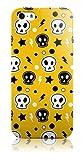 Snekz iPhone 5 Hard Gloss Hülle/Gelb Skulls