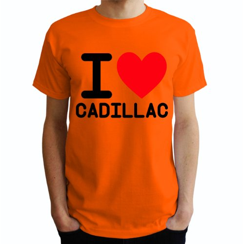 I love Cadillac Herren T-Shirt Orange