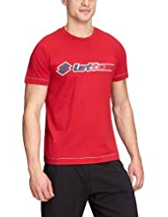 Lotto Sport  - Camiseta de running para hombre, tamaño L, color passion