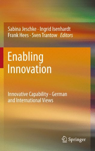 Enabling Innovation: Innovative Capability - German and International Views