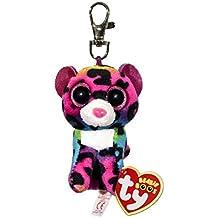 Carletto Ty 35012 Dotty Beanie Boos - Peluche de leopardo con ojos saltones (8.5 cm), multicolor