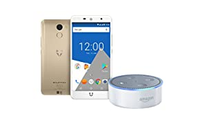 Wileyfox Swift 2 X - Gold & Amazon Echo Dot (2nd Generation) - White - (Exclusive to Amazon)