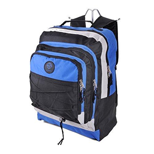 Friedndz Trendz-laterali -rafforzare cinghie fibbia viaggio dei bagagli Daypack zaino Bagpack (black/red/grey) black/navy/grey