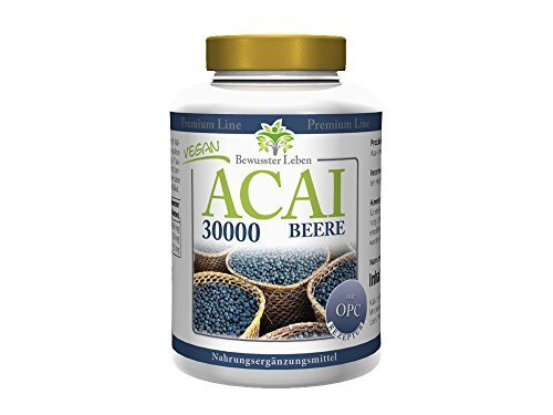 BIOMENTA ACAI BEEREN + OPC | 30.000 mg ACAI Extrakt + 150 mg OPC-Traubenkernextrakt | 150 Acai Tabletten | VEGAN
