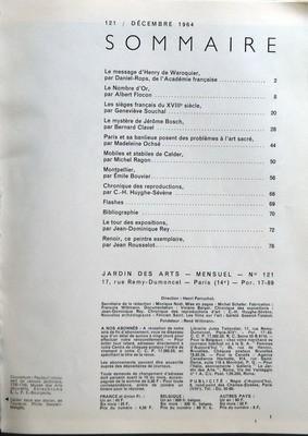 JARDIN DES ARTS N? 121 du 01-12-1964 NUMERO DE NOE...
