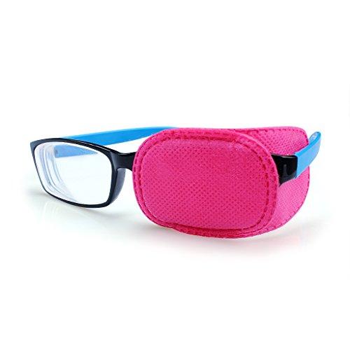 Paquete de 6 piezas de parches para ojos con ambliopía, parche ocular para niños, estrabismo, parche ocular perezoso para niños, rosa (pequeño 85x50 mm)