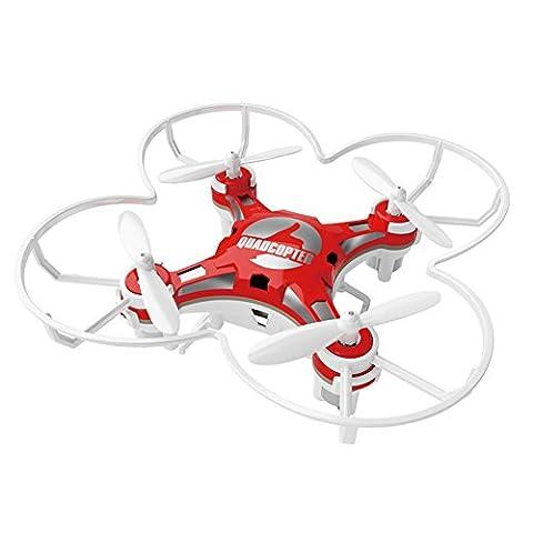 Cewaal Taschen Drohne 2,4G 4CH 6Axis Gyro RC Schaltbare Quadcopter Fernbedienung RTF Hubschrauber Spielzeug