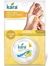 Kara Nail Polish Remover Wipes - Lemon (30 wipes)