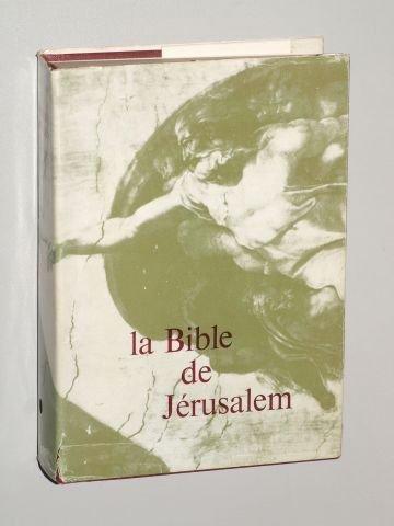 La Bible de Jérusalem. La Sainte Bible traduite en français sous la direction de l'École Biblique de Jérusalem. Paris, Les Éditions du Cerf, 1961. 8°. XV S., 1 Bl., 1669 S., 4 Bll. m. Ktn. Leinen.