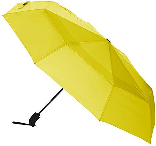 AmazonBasics - Regenschirm mit Windfang, Gelb
