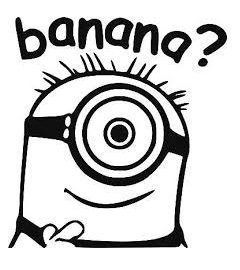 """Adhesivo de coche """"Banana?"""", diseño de Minion, varios colores disponible"""