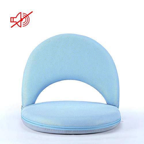 YHSFC Boden Stuhl Faltbare leichte Rückenlehne tragbare Faule Sofa abnehmbar und waschbar Gewicht 180 kg,Blau,760X480X80MM (Tragbare Stuhl Unterstützt Den Rücken)