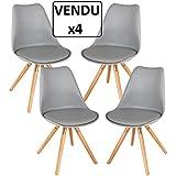 Conjunto de 4 sillas confortables - Estilo escandinavo - Color GRIS