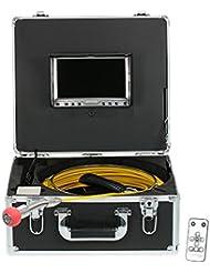 Lixada Moniteur LCD 960TVL CCD Caméra d'inspection de Pipeline Caméra d'évacuation imperméable à l'eau Camion d'inspection d'égout Système de Contrôle