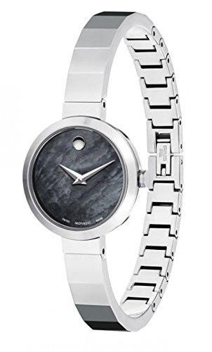 MOVADO Novella 607109 - Orologio da polso da donna, 24 mm, cinturino in acciaio inox + cassa al quarzo