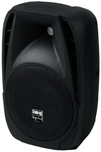 IMG Stage Line PAK-8DMP Aktive DJ und Power-Lautsprecherbox, 120 WMAX schwarz