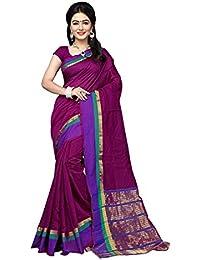 Indian Fashionista Women's Tassar Silk Saree With Blouse Piece (Nrpt1128A_Purple)