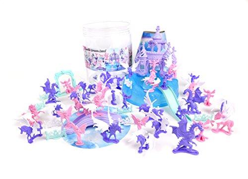 Sunny Days Entertainment Sparkle Dreamland Bucket (Assorted Mini-Figure Set - Unicorns, Fairies, Dragons, Castles & More) Toy by Sunny Days Entertainment