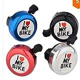 4 pcs Fahrradklingel Laut, Fahrrad Klingel Laut Fahrradglocke Aluminum Lenkerklingel Fahrrad Zubehör für Alle Fahrrad Lenker Alarm Horn (Black)