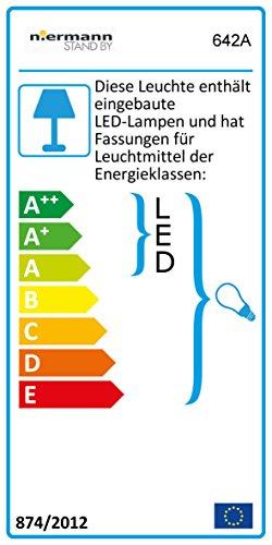 Niermann Standby Deckenleuchte Wolke mit fluoreszenz Sternen Amazon Echo kompatibel, Holz, E14, 40 W, Blau, 74 x 57 x 7 cm