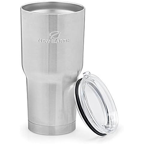 30 oz-Bicchiere acciaio INOX-Tazza Mug con coperchio, Eco-Friendly doppia parete