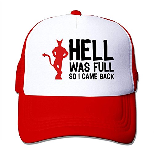 LuoKuan Hell was Full - So I Came Back (2c) Big Foam Mesh Hat Mesh Back Adjustable Cap Camouflage Full Back Cap