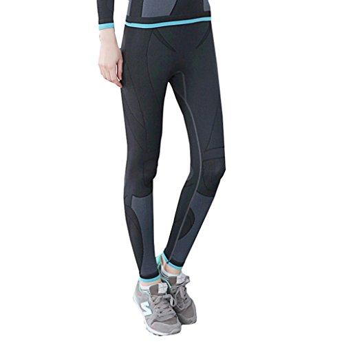 qutool Pantalon de sport pour femme yoga Entraînement Legging pour femme course à pied Pantalon pour homme noir - Noir