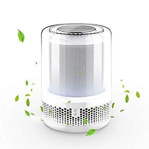 TOPELEK Luftreiniger Air Purifier mit Vorfilter, HEPA-Filter, Nachtlicht, Luftreiniger für 99,97% Filterleistung Sauberer und Frischluftproduzent für Geruch,Allergien,Rauch,Staub,Schimmel Pollen.