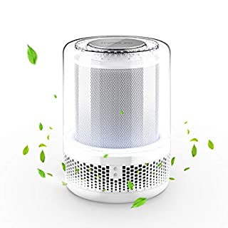 TOPELEK Air Purifier, Ozone Free Air Cleaner with True HEPA Filters, Ultra Quiet Odor Allergies Eliminator with Night Light, 360° Inlet Purifiers Filtration for Allergies, Smokers, Dust, Pets Dander