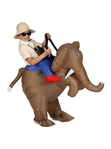 Widmann Srl disfraz Explorador Elefante hinchable para niño, Multicolor, wdm75511