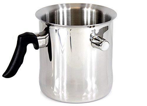 Simmertopf / Milchtopf 2 Liter vom MEYERHOFF als Kochtopf aus Edelstahl für Induktion, Gas, Elektro und Halogen