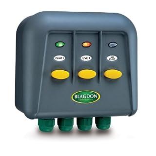 Blagdon Powersafe Switchbox , Black, 3 Outlet
