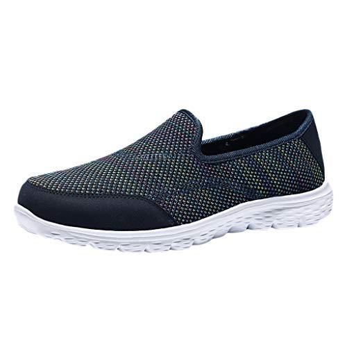 Damen Turnschuhe gemütlich Casual Solid Sport atmungsaktiv leichte Slip On Schuhe Sommer schuhe Mesh Faule Schuhe