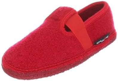 Haflinger Joschi 621002, Unisex - Kinder Hausschuhe, Rot (rubin 11), EU 41