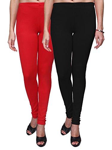 Trasa Leggings for Womens and Girls Cotton Lycra Multicolour Churidar Leggings -...