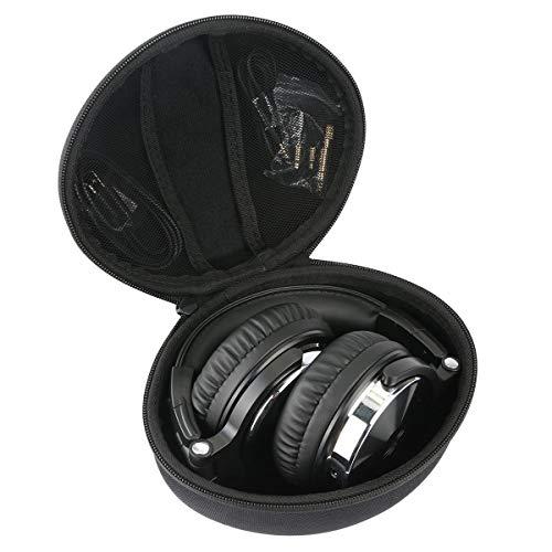 Khanka Eva Hart Reise Tragetasche Tasche für OneOdio DJ Kopfhörer Studiokopfhörer Over-Ear Headset mit Kabeln. (Alles schwarz) (Kopfhörer Dj Tasche)