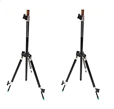 2 New Mini Tripod Rod Rests. Fully Adjustable, Metal Yolk, Carp Coarse Fishing from MARAUDER