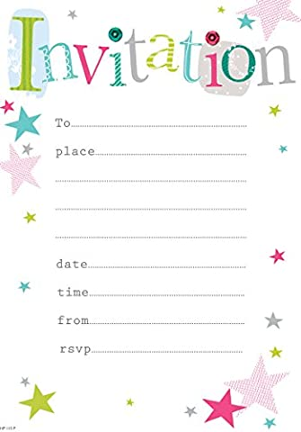 Party Invitations with Envelopes (Pack of 20)