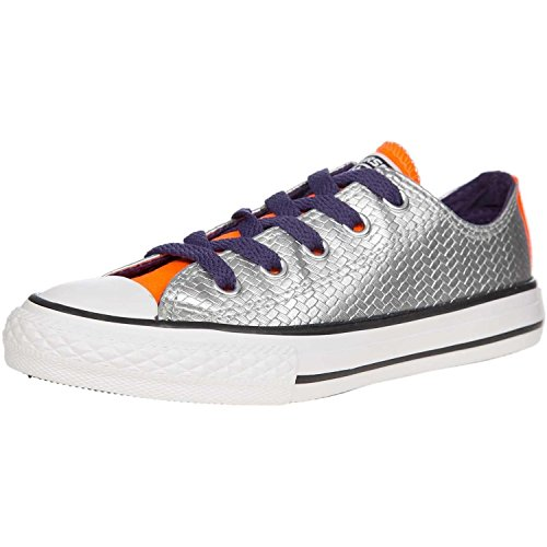 Converse Star Youth Taylor Synthetic Trainers Shine All Chuck Silver wTw1qra