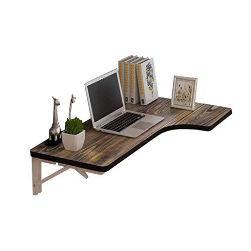 LXDDB An der Wand befestigter Tisch für kleine Räume, Klapptisch Computertisch Küche Esstisch Wand Integrierter Schreibtisch Büro-Computer-Arbeitsplatz Tisch Retro Carbonized Board, Redwood, 80 * -