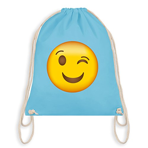 er Emoji - Unisize - Hellblau - WM110 - Turnbeutel I Gym Bag (Familie Gruppe Kostüme)