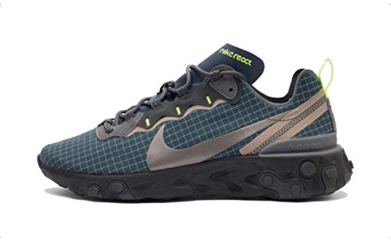 Nike React Element 55 scarpe da ginnastica Blu Blu Blu Grigio Nero Fluo CD1503-400 (40.5 - Blu)   Ogni articolo descritto è disponibile  36c48e
