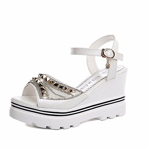 No. 55 Shoes Estate Semplice Moda Traspirante Ladies Sandali Bianco
