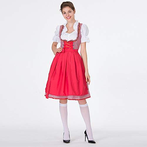 Hunpta@ Dirndl Kostüm Damen Karneval Oktoberfest Trachten Verkleidung,Oktoberfest Kostüm für Damen Bayerisches Biermädchen Fasching Halloween Damen,Outfit für Karneval